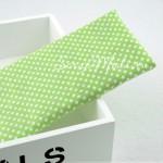 Ткань Горох белый на салатовом фоне, размер отреза ткани 50х50 см., TK000079