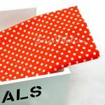 Ткань Горох, белый на красном фоне, размер отреза ткани 50х50 см., TK000103