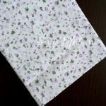 Ткань Цветочки сиреневые, мелкие на белом фоне, размер отреза ткани 50х50 см., TK000123