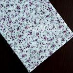 Ткань Цветочки фиолетовые, мелкие на белом фоне, размер отреза ткани 50х50 см., TK000125
