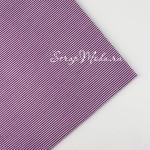 Ткань Полоски белые на фиолетовом фоне, размер отреза ткани 50х50 см., TK000137