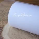 Фатин белый,  ширина 15 см., цена за 1 метр. TK000138