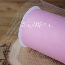 Фатин розовый,  ширина 15 см., цена за 1 метр. TK000144