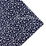 Ткань Stars белые на синем фоне, размер отреза ткани 50х50 см., TK000149