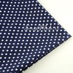Ткань Горох, белый на  синем фоне, размер отреза ткани 50х50 см., размер гороха 7 мм., TK000150