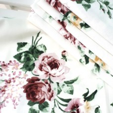 Ткань Цветы на молочном фоне, размер отреза ткани 35х78см., TK000153