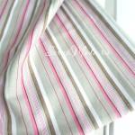 Ткань  Бежевая Полоска+розовые полоски, размер отреза ткани 46х47 см., отличная ткань для блокнотов и альбомов,  хлопок, TK000172