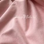 Замша двусторонняя, искусственная, цвет Нежно-розовая, размер 50х73см(+/- 1см), TK000177