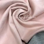 Ткань под замшу на трикотажной основе, Нежный Розовый, отрез размером 50х70 см., TK000183