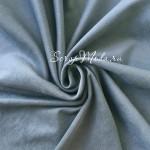 Замша двусторонняя, искусственная, цвет Серо-Голубой, размер 35х50см(+/- 1см), плотная, TK000265