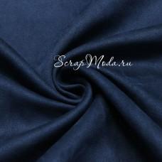 Замша двусторонняя, искусственная, цвет Синий, размер 25х70см, TK000388