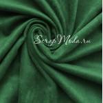 Замша двусторонняя, искусственная, цвет Ярко-зелёный(ёлочный), размер 50х70см(+/- 1см), TK000374