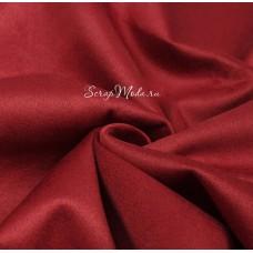 Замша двусторонняя, искусственная, цвет тёмно-Красный, размер 25х70см, TK000384