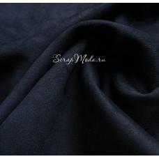Замша двусторонняя, искусственная, цвет Тёмно-Синий, размер 25х70см, TK000391