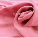 Замша двусторонняя, искусственная, цвет Розовая Baby Girl,  размер 33х70см, TK000403