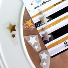 Надпись из термотрансфера Star mix, размер звездочек 7 мм. и 16 мм., 11 штук, TN000012