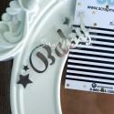 Надпись из термотрансфера Baby star, пленка зеркальное серебро, размер слова 5,4х 2,8см., TN000017