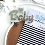 Надпись из термотрансфера Baby Бетмен, пленка зеркальное серебро, размер слова 5,8х 2,8см., TN000019
