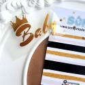 Надпись из термотрансфера Baby с короной, пленка зеркальное золото, размер слова 5,5х 2,5см., TN000024
