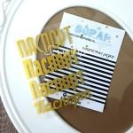 Надпись из термотрансфера Паспорт, пленка матовое золото, размер общий  9,5х6,5см.,TR000037