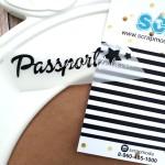 Надпись из термотрансфера Passport, пленка черная матовая, размер общий  7х1,8см., TR000097