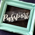 Надпись из термотрансфера Passport, пленка зеркальное серебро, размер 72х22мм., TN000112