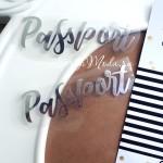 Надпись из термотрансфера Passport, пленка зеркальное серебро, размер 7х2,5см., TN000112