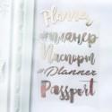 Надпись из термотрансфера Планер-Паспорт, пленка зеркальное серебро, 9,5х6,5 см., 4 штуки TN000136