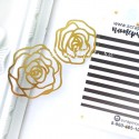 Надпись из термотрансфера Резные цветы, пленка зеркальное золото, размер 3,5см и 4 см, TN000173