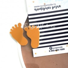 Рисунок Baby ножки, пленка зеркальное золото, размер общий 3,5х4см., TN000548
