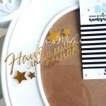 Надпись из термотрансфера Наш любимый сынок+звездочки, пленка зеркальное золото, размер общий 10х4,5см., TN000290