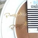 Надпись из термотрансфера Passport 293, пленка зеркальное золото, размер общий 6,5х1,8см., TN000293
