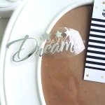 Надпись из термотрансфера Dreams+звездочки, пленка зеркальное серебро, размер общий 8х3,4см., TN000297