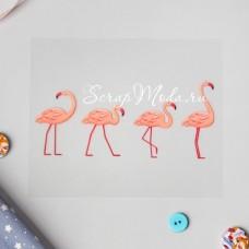 Термонаклейка для декорирования текстильных изделий Фламинго, размер 10х12 см АртУзор, TN000302