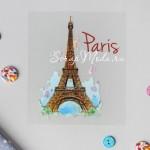 Термонаклейка для декорирования текстильных изделий Париж, размер 10х12 см АртУзор, TN000303