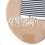 Надпись из термотрансфера Oh Baby!, пленка зеркальное серебро, размер общий 8х2см., TN000342
