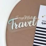 Надпись из термотрансфера, Travel 359, зеркальное серебро, размер 6,5х2,5 см,. TN000359