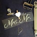 Надпись из термотрансфера Mrs. Mr. пленка зеркальное серебро, размер общий 10х3см., TN000432