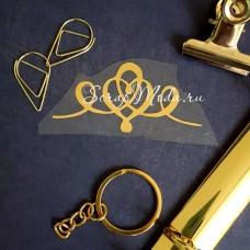 Надпись из термотрансфера Орнамент439, пленка зеркальное золото, размер общий  6,5х3см., TN000439