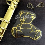 Рисунок контурный из термотрансфера Мишка476, пленка зеркальное золото, размер 86х80мм, TN000476