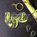 Надпись из термотрансфера Angel, плёнка зеркальное золото, 85х63мм., TN000502