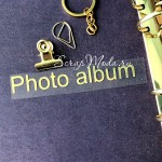 Надпись из термотрансфера Photo album , плёнка зеркальное золото, 100х15мм., TN000543