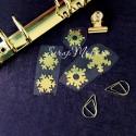 Рисунок из термотрансфера Снежинки, пленка зеркальное золото, размер снежинок  2см, 2,5см., TN000552