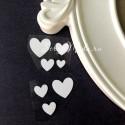 Рисунок из термотрансфера Сердечки, пленка белая матовая, размер от 10 до 22 мм., 7 шт., TN000554