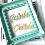 Надпись из термотрансфера Cards, пленка зеркальное золото, размер 5x1,8см., TN000561