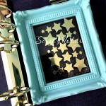 Рисунок из термотрансфера Звёздочки, пленка зеркальное золото, размер от 0,5 и 1,5 см., 20 штук, TN000565