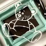 Рисунок контурный из термотрансфера Мишка576, пленка матовая белая, размер 86х80мм, TN000576