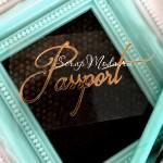 Надпись из термотрансфера Passport730, пленка зеркальное золото, размер общий 6,5х3,5 см., TN000730