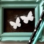 Рисунок из термотрансфера Бабочки, пленка белая матовая, размер общий 2,5см., 2 бабочки, TN000738