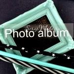 Надпись из термотрансфера Photo album , плёнка белая матовая, 100х15мм., TN000745